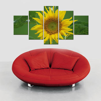 5 Pieces Hot Canvas Printed Sunflower Wall Painting Art Poster Modular Picture for Living Room Canvas Painting Art Works Framed 20690