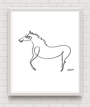 Canvas Painting Picasso Minimalist Horse Line Drawing Art Print Poster Wall Picture Home Decor Nordic Style Kids Decoration