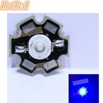 Ping! 10VNT 3W Royal Blue High Power LED Spinduolis 700mA 450-455NM su 20mm Star Platine Heatsink Augalų Auga/Akvariumas