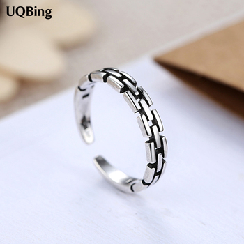 Personalized Retro Thai Silver 925 Sterling Silver Rings Oepn Rings For Women Girl Jewelry Drop Shipping 47445