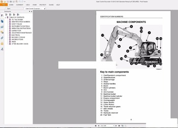 SattvDiag Case Crawler Excavators Service Manual, Operators Manual & Schematic Full DVD 71656