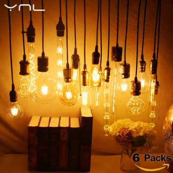 6PCS Kristalų celling LED Vintage