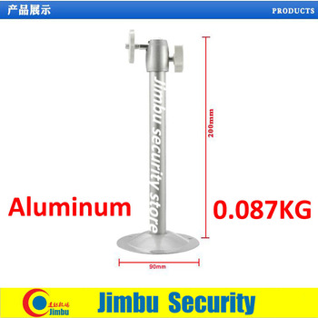 Cctv camera aluminium bracket round base security camera bracket Lifting scaffold 0.087KG 90MMX200MM 6PCS 85105