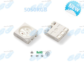 1000pcs SMD/SMT 5050 RGB LED PLCC-6 3-CHIPS RED BLUE 300-500MCD GREEN 1000-1200MCD Super Bright lamp light bead 97599